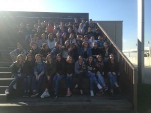 Nos élèves devant le musée de la science