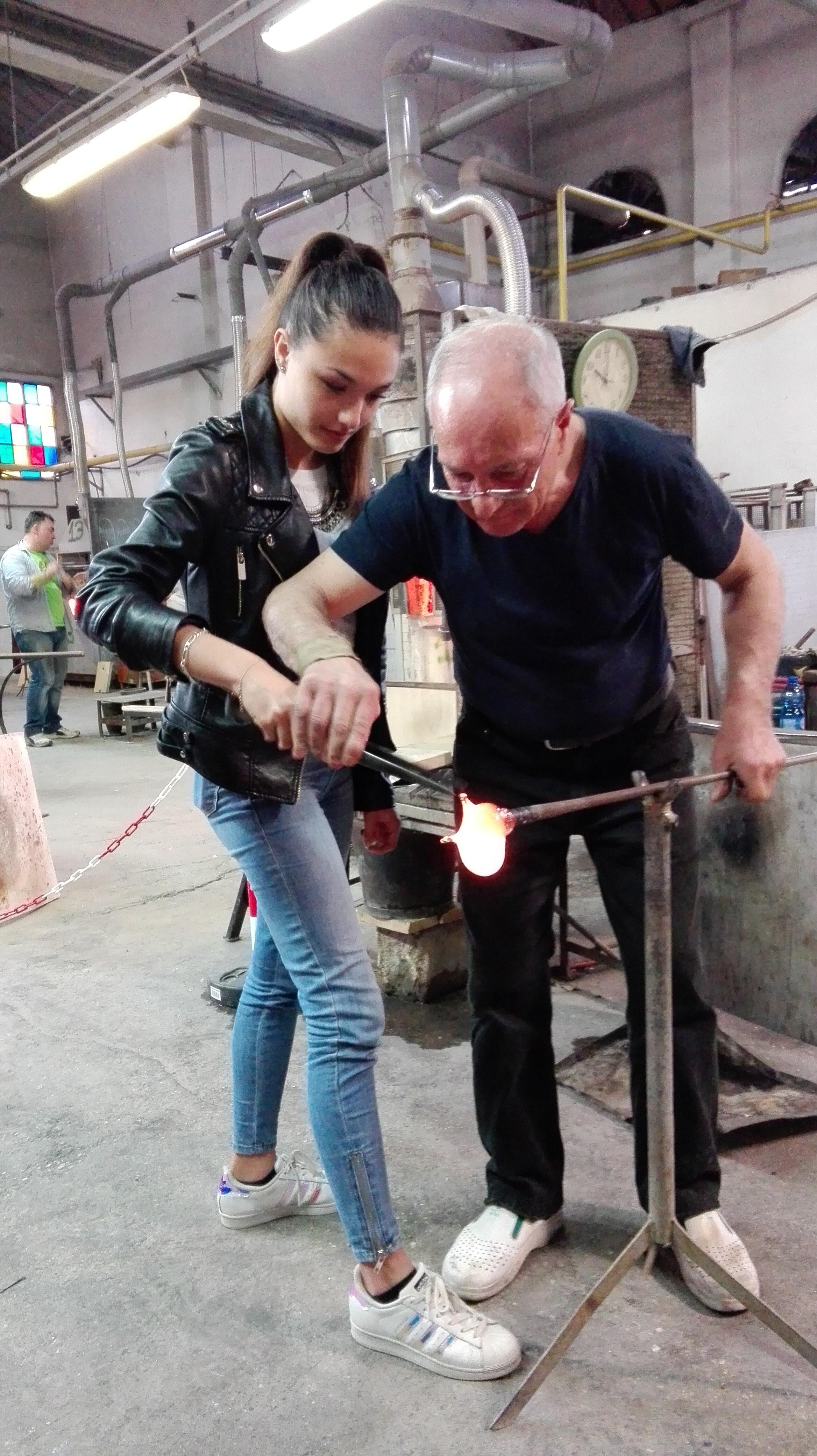 Il maestro della vetreria Colleoni à Murano