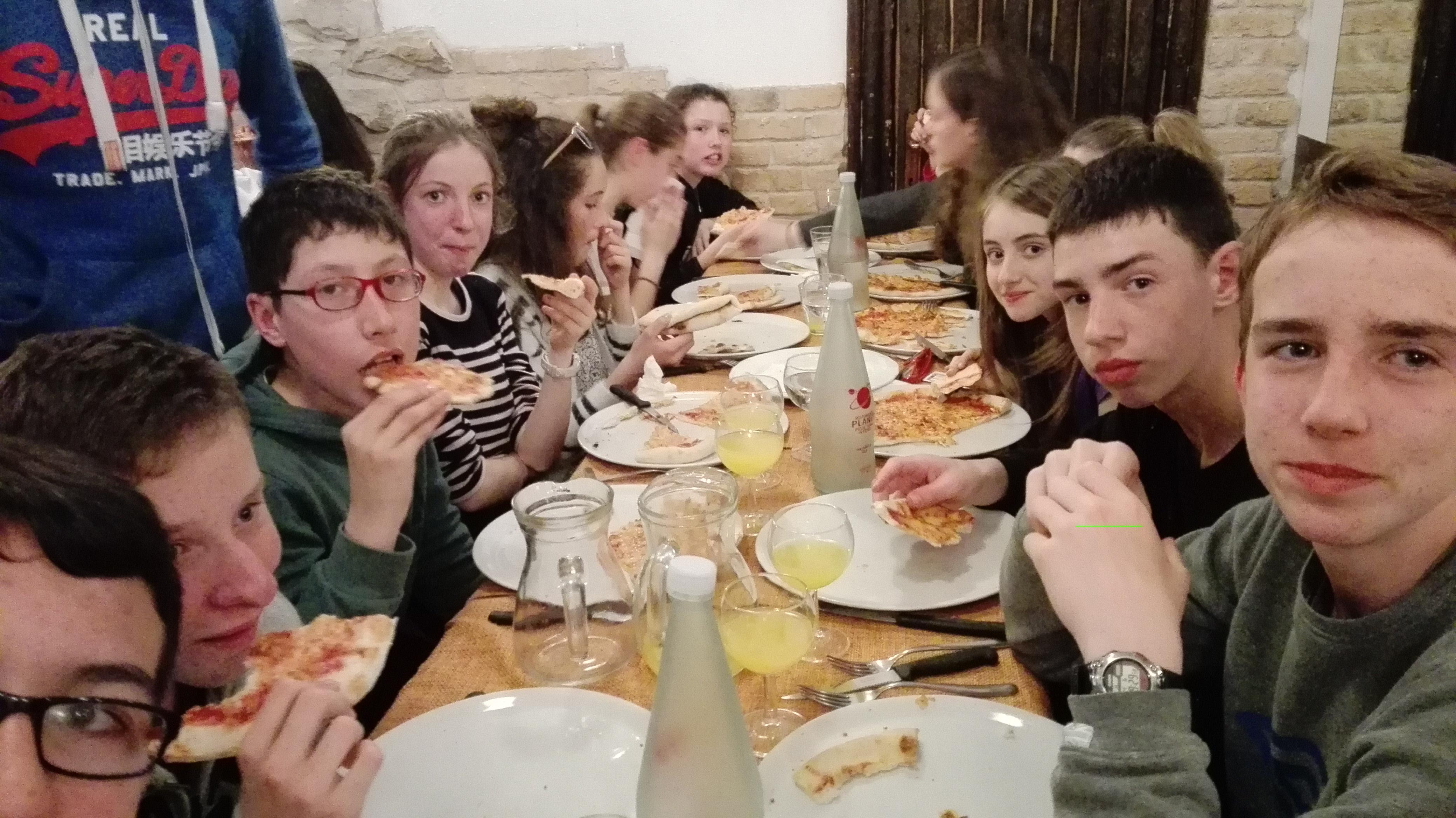 Dernier soir : plage et pizza !